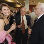 L'auteur de l'hommage accompagné de son épouse Sigrid, et de Jean-Paul Gagné.